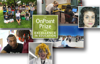 Collage of photos of all six OnPoint Prize Educator of the Year finalists.