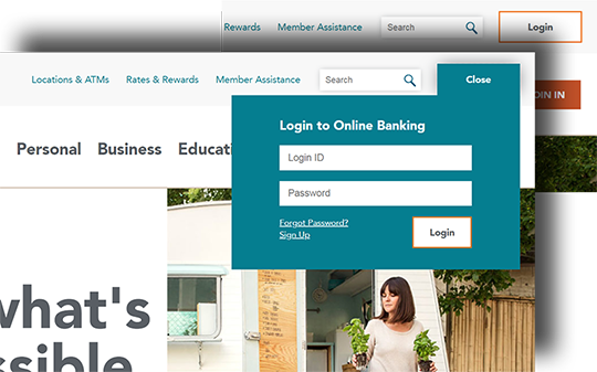 Sample image of new login location